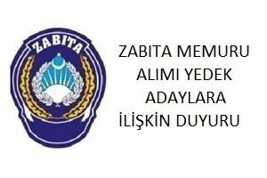 Ümraniye Belediyesi Zabıta Memuru Alımı Yedek Adaylara İlişkin Duyuru