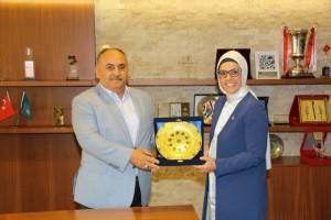 Milletvekili Ravza Kavakçı Kan'dan Başkan Hasan Can'a Ziyaret