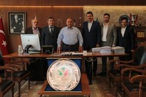 Gümüşhane Altuntaş Köyü Derneği'nden Başkan Hasan Can'a Tanışma Ziyareti