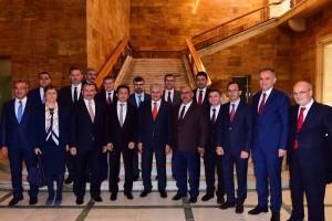 Anadolu Yakası Belediye Başkanları Ankara'da Ziyaretlerde Bulundu