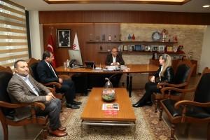 Toplum Sağlığı Merkezi Başkanı Dr. Hande Şipka'dan Başkan Hasan Can'a Ziyaret