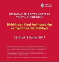 Ümraniye Belediyesi Yarıyıl Etkinlikleri Özel Animasyon ve Tiyatrolarla Başlıyor