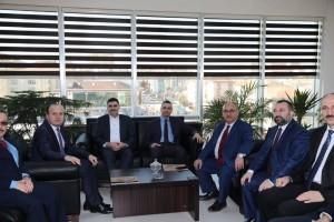 Başkan Hasan Can Ümraniye Sosyal Güvenlik Merkezi Yeni Müdürü Olkan Uzman'ı Ziyaret Etti