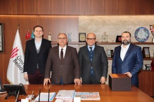 Yeşilay Genel Başkanı Prof. Dr. Mücahit Öztürk Başkan Hasan Can'ı Ziyaret Etti
