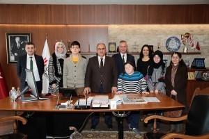 Ümraniye Togem-Der Özel Eğitim Mesleki Eğitim Merkezi ve Asiye Ahmet Ziylan Özel Eğitim Anaokulu Müdürleri Başkan Hasan Can'ı Ziyaret Etti
