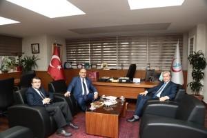 Başkan Hasan Can, İstanbul Anadolu Kuzey Kamu Hastaneleri Birliği Genel Sekreteri Kamil Özdil'i Ziyaret Etti