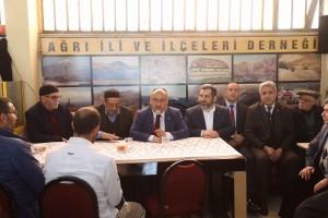 Başkan Hasan Can, Ağrı İli ve İlçeleri Sosyal Yardımlaşma ve Dayanışma Derneğini Ziyaret Etti