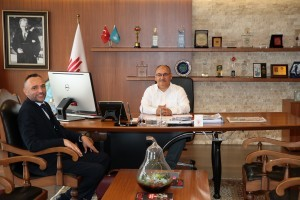 Diriliş Ertuğrul Dizisi Yapımcılardan Hüseyin Özçelik Başkan Hasan Can'ı Ziyaret Etti