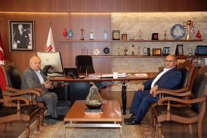 Prof. Dr. Ömer Faruk Harman'dan Başkan Hasan Can'a Ziyaret