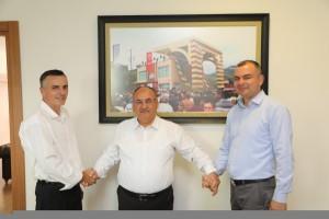 Başkan Hasan Can, Travnik Kantonu Tarım ve Hayvancılık Bakanı Salkan Merdzaniç ve Fojnica Belediye Başkanı Sabahattin Krasuna'yı Ağırladı