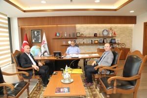 İstanbul PTT Baş Müdür Yardımcısı Mehmet Bilek ile Hekimbaşı Mahalle Muhtarı Abdurrahman Toprak'tan Başkan Hasan Can'a Ziyaret