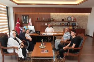 Başkan Hasan Can Şehit Ahmet Dokuyucu'nun Ailesini Ağırladı
