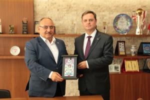 Başkan Hasan Can, Kosova Cumhuriyeti İstanbul Başkonsolosu Rrahim Morina'yı Ağırladı