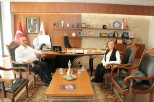 Milletvekili Mihrimah Belma Satır'dan Başkan Hasan Can'a Ziyaret