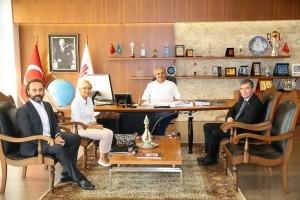 Bayer Şirketler Grubu'nun Ceosu Hubert Braun Başkan Hasan Can'ı Ziyaret Etti