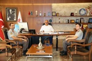 Ümraniye Cezaevi Jandarma Bölük Komutanı Üsteğmen Abdullah Savaş'dan Başkan Hasan Can'a Ziyaret