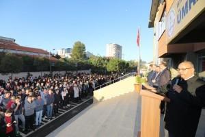 Başkan Hasan Can, Öğrencilerle Bayrak Töreninde Buluştu