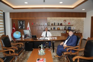 Kazım Karabekir Mahalle Muhtarı Ahmet Şahin'den Başkan Hasan Can'a Ziyaret