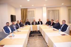 Başkan Hasan Can, İstanbul Büyükşehir Belediye Başkanı Mevlüt Uysal'ın katılımıyla gerçekleşen Anadolu Yakası Belediye Başkanları Toplantısına Katıldı