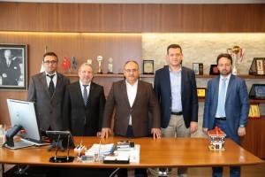 Başkan Hasan Can, Safranbolu Kaymakamı ve Aynı Zamanda Belediye Başkanı Fatih Ürkmezer'i Ağırladı