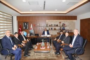 Diyanet İşleri Başkanlığı Yönetim Hizmetleri Genel Müdürü, Teknik Hizmetler Daire Başkanı ve Ümraniye İlçe Müftüsü'nden Başkan Hasan Can'a Ziyaret