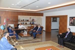 Ensar Vakfı Yalova Şube Başkanı Ali Ekber Polat'tan Başkan Hasan Can'a Ziyaret