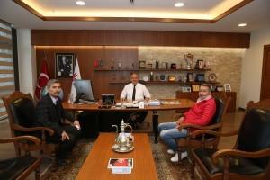 15 Temmuz Gazisi Levent Deveci'den Başkan Hasan Can'a Ziyaret