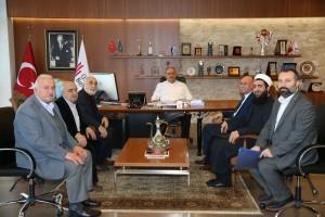 Hekimbaşı Mahalle Muhtarı ve Hekimbaşı Merkez Camii Dernek Yönetiminden Başkan Hasan Can'a Ziyaret