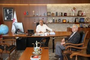 Elmalıkent Mahalle Başkanı Mehmet Akagündüz'den Başkan Hasan Can'a Ziyaret