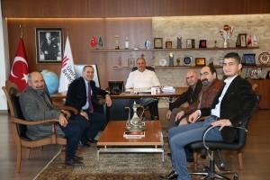 Giresun İli Çamoluk İlçesi Hacıörenköyü Derneği'nden Başkan Hasan Can'a Ziyaret
