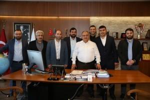 Sivas Koyulhisar Güzelyurt Derneği'nden Başkan Hasan Can'a Ziyaret