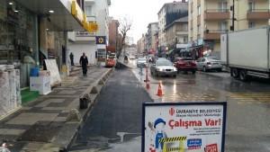 Çavuşbaşı Caddesi'nde Yol Genişletme Ve Düzenleme Çalışmaları Devam Ediyor