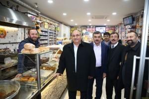 Başkan Hasan Can Kadosan Sanayi Sitesi Esnaflarını Ziyaret Etti