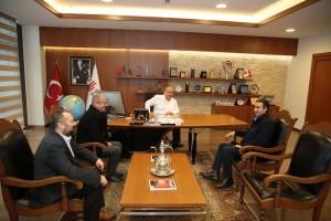 Başkan Hasan Can Oyuncu Cumhur Seval'i Ağırladı