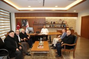 Ordu Mesudiye Balıklı Köyü Dernek Başkanından Başkan Hasan Can'a Ziyaret