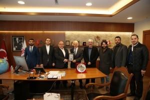 Hektaş Şirketler Grubu Yönetim Kurulu Başkanı İbrahim Ekşi'den Başkan Hasan Can'a Ziyaret