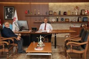 Tanışlar Grup Yönetim Kurulu Başkanı Durmuş Tanış'dan Başkan Hasan Can'a Ziyaret