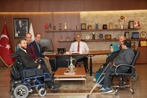 Kent Konseyi Engelli Komisyonu'ndan Başkan Hasan Can'a Ziyaret