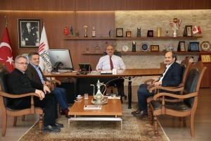 AK Parti Balıkesir İl Başkanı Av. Hasan Demiraslan Başkan Hasan Can'ı Ziyaret Etti
