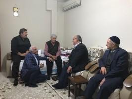 Başkan Hasan Can, Esenkent Mahalle Muhtarı İsmet Taş'ın Babasını Ziyaret Etti