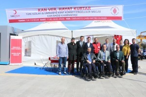 Türk Kızılayı ve Ümraniye Kent Konseyi Engelliler Meclisi Kan Bağışı Kampanyası Düzenledi