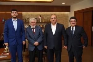 Trabzon Of-Hayrat Közceğiz Köyü Derneği'nden Başkan Hasan Can'a Ziyaret