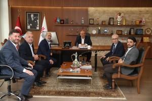 Başkan Hasan Can; Çamlıca Eğitim ve Yardım Vakfı Yönetimini Ağırladı