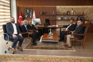 Başkan Hasan Can Başbakanlık Başmüşaviri Prof. Dr. Bekir Karlığa'yı Ağırladı