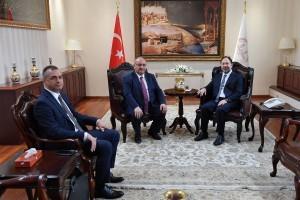 Başkan Hasan Can'dan Diyanet İşleri Başkanı Prof. Dr. Ali Erbaş'a Ziyaret