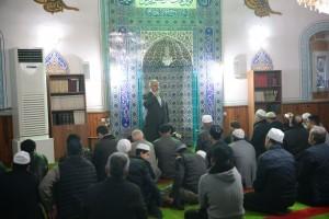 Başkan Hasan Can, Sabah Namazı Buluşmalarında Necat Camii Cemaatiyle Bir Araya Geldi