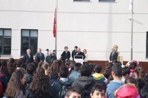 Başkan Hasan Can Şehit Köksal Karmil İmam Hatip Ortaokulu'nda Öğrencilerle Bir Araya Geldi