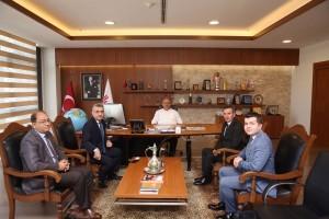 Vakıfbank Bölge Müdürü ve Şube Müdüründen Başkan Hasan Can'a Ziyaret