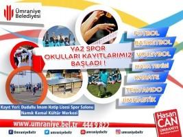 Ümraniye Belediyesi Yaz Spor Okulları Kayıtları Başladı