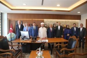 Başkan Hasan Can, Diyanet İşleri Başkanı Prof. Dr. Ali Erbaş'ı Makamında Ağırladı